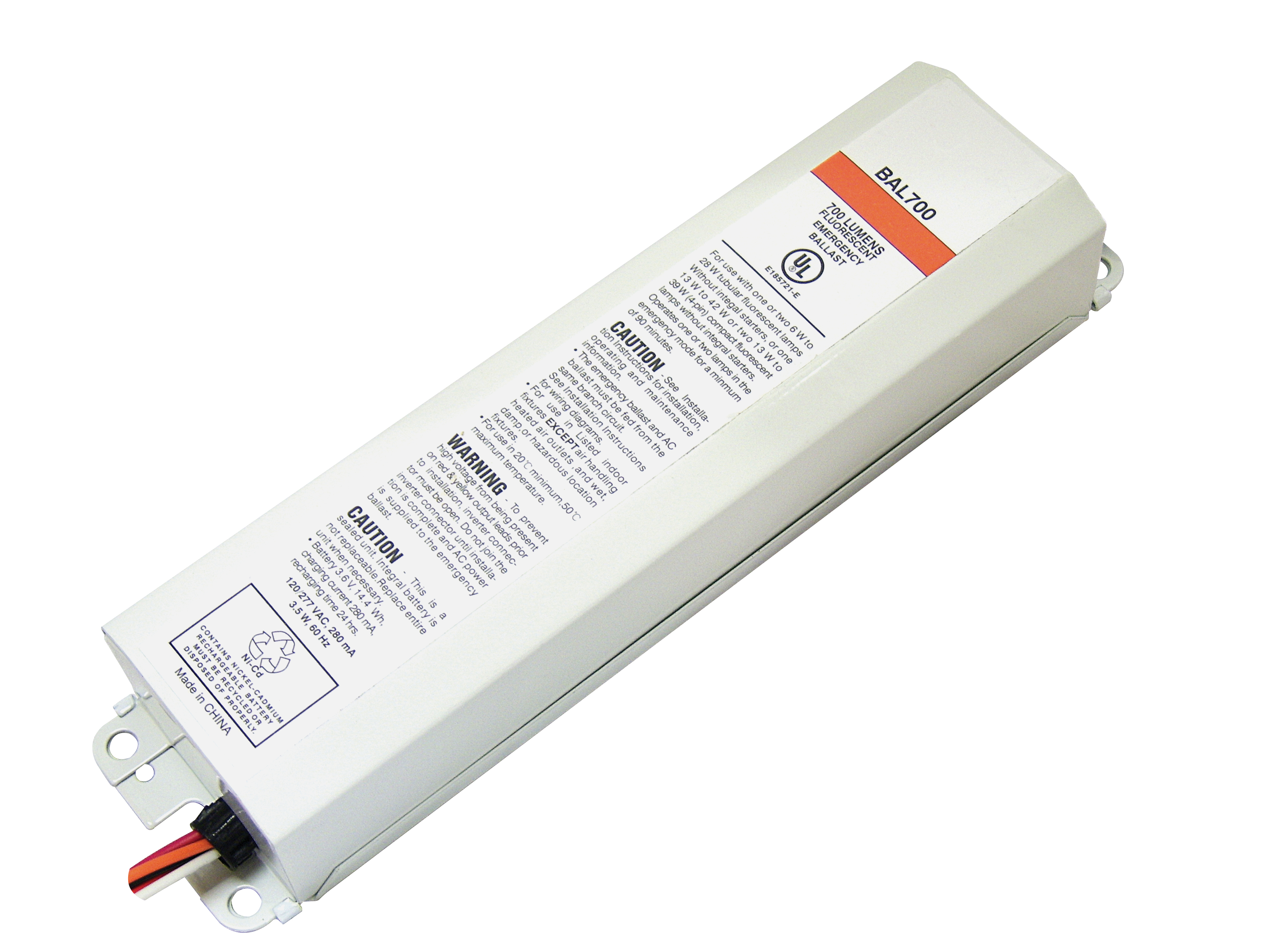 Bal700 Emergency Ballasts Best Lighting Products Rechargeable Battery Wiring Diagram High Res Image View